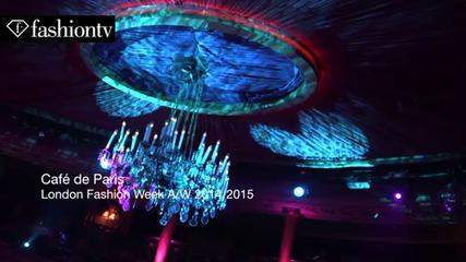 News video: Cafe De Paris with Lara Accison during London Fashion Week Fall/Winter 2014-15 | FashionTV